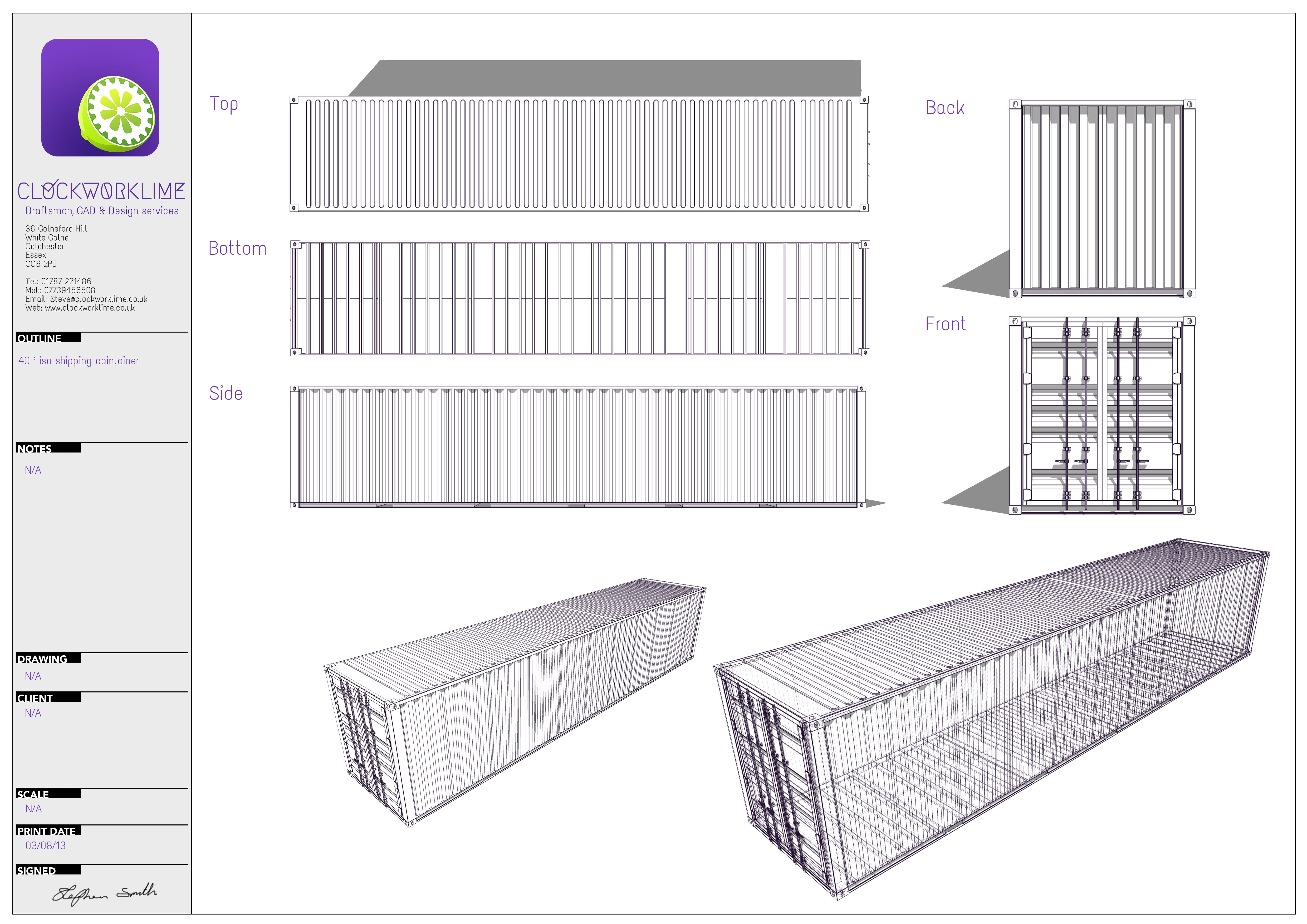 Shipping Container Floor Plan Designs Shipping Container Architectural Design And Measured